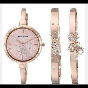 ✨Anne Klein Rose Gold watch & bangle Set✨
